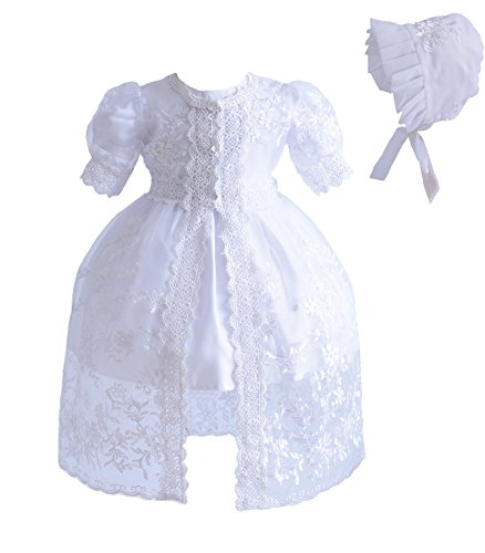 Cinda Bébé Fille 3 Morceau Dentelle Robe de baptême Blanc 12-18 Mois