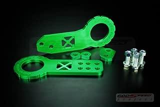 DEWHEL T2 Racing JDM Front//Rear Folding Screw On Towing Tow Hook Black for Honda S2000 AP1 AP2 FIT Acura TL