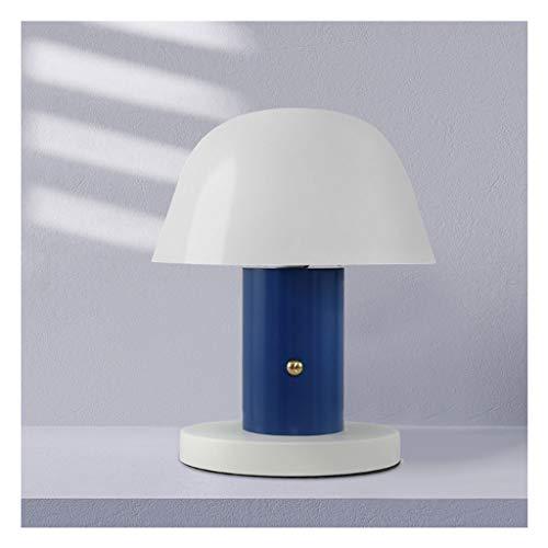 luckxuan Minimalista Minimalista Dormitorio Lámpara de Mesa Creativa Lámpara de Escritorio Lámpara Ajustable Lámpara de Mesa Lámpara de Mesa de Noche Lámpara de Mesa pequeña (Color : Blue)