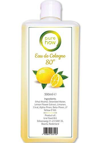 Pure Now Eau de Cologne - 80% Alkohol Desinfiziert Duftwasser mit Zitronen Extrakt, Kölnischwasser, Limon Kolonya 500ml