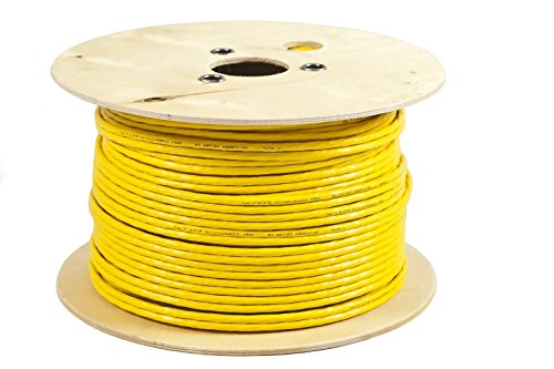 BIGtec 200m CAT.7 Verlegekabel duplex gelb Gigabit Kabel doppelt geschirmt / halogenfrei 10Gbit 10 Gigabit Netzwerkkabel CAT.7 1000Mhz SFTP S/FTP CAT7 Netwerkkabel Installationskabel PIMF CAT.7 Kabel CAT7 Netzwerk Verkabelung 200 m LAN Kabel Datenkabel CAT7 2x4x2xAWG23 , CAT 7 CAT.7 CAT7 Netzwerkkabel Gigabit 10/100/1'000/10'000 MBit zum Anschluß an Patchpanel , Netzwerkdosen und andere , PoE Kabel , CAT.7 Duplex