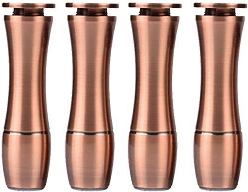 Aluminiumlegierung Möbel Stützfuß Bowling Tischbeine für TV Badezimmer Tabelle Sofa - 4 Pack,Red Bronze,120mm