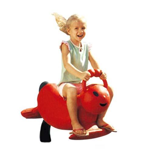 YUMEIGE Schaukelspielzeug Schaukelpferd 36,2 × 15,7 × 31.4inch, schaukeltier Rote Raupe, Kindergarten/Spielplatz/Outdoor-Fahrten