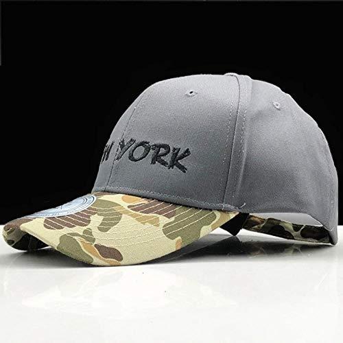 Casquette de Baseball 100% Coton Couture Chapeau De Casquette De Baseball pour Femmes Hommes Camouflage Papa Chapeau New York Broderie Lettre Sports De Plein Air Casquett