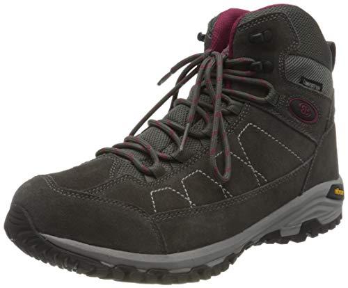 Brütting Damskie buty trekkingowe Mount Adams High Outdoor, szary - szary bordowy - 42 EU