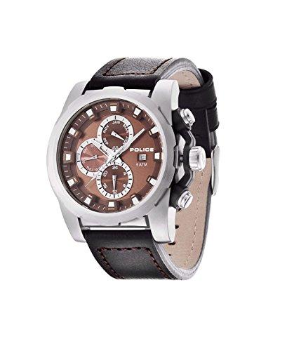 INTELIHANCE. 13928JS/12 - Reloj de Cuarzo para Hombre, con Correa de Cuero, Color Negro