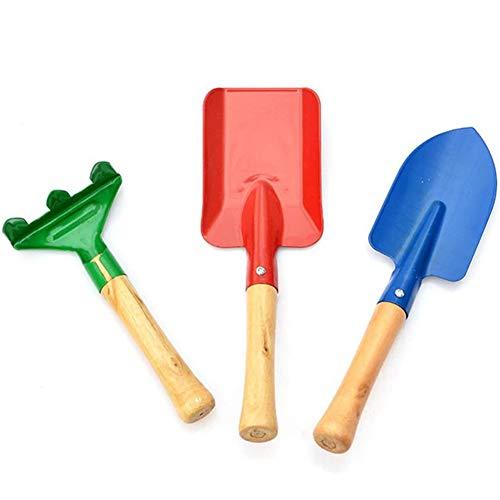 3 Piezas Mini Herramientas de Jardín, Mango Corto Juego de Herramientas para Niños, Pala de Jardinería Mini Rastrillo de Jardinería Palas para Niñosy Paleta Set