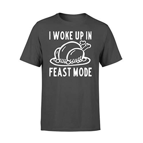 I Woke Up in Feast Mode Lustiges Thanksgiving Day T-Shirt Gr. L, Schwarz