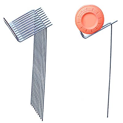 SteelBird Clay Pigeon Target Holders Shooting Stands for Shotgun 22 Rifle and 22 Pistol (10 Pack)