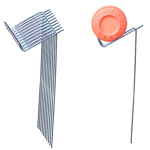 SteelBird Clay Pigeon Target Holders Shooting Stands for Shotgun 22 Rifle and 22 Pistol, (10 Pack)