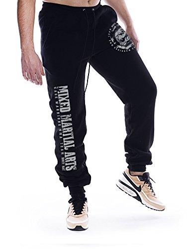Dirty Ray Arti Marziali MMA Pantaloni della Tuta Uomo con Fondo Elasticizzato SDMMA2BS (M)