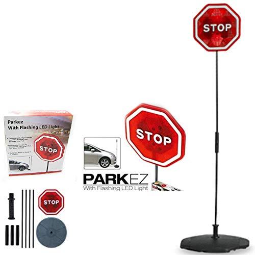 PARKING STOP SIGN PARKEZ FLASHING LED LIGTH CAR GARAGE SYSTEM SIGN AID SENSOR