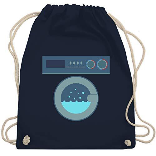 Shirtracer Karneval & Fasching - Waschmaschine Kostüm - Unisize - Navy Blau - turnbeutel waschmaschine - WM110 - Turnbeutel und Stoffbeutel aus Baumwolle