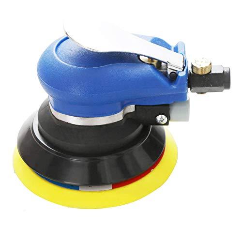 Professional Air Random Orbital Sander, Heavy Duty Dual Action Pneumatic Palm Sander (5 inch, Blue)