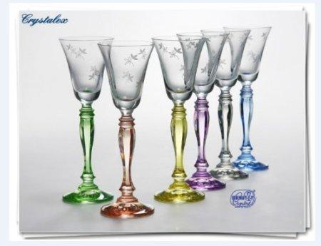 Bohemia Crystal - Juego de copas de licor Victoria, 6 unidades, con...