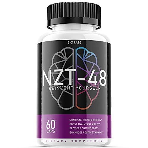 NZT 48 Limitless Pill Reinvent Yourself NZT-48 Focus Memory Brain Booster Supplement (1 Pack)