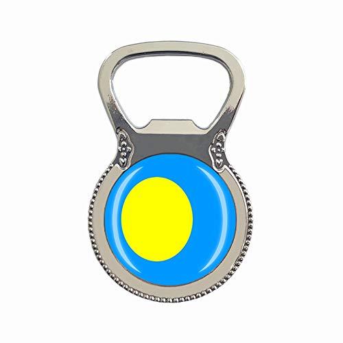 Palau-Flagge Bierflaschenöffner Kühlschrank Magnet Metall Glas Kristall Reise Souvenir Geschenk Heimdekoration