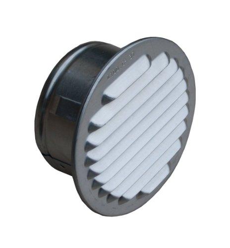 Lüftungsgitter Aluminium natur mit Stutzen, DN 195-200 mm
