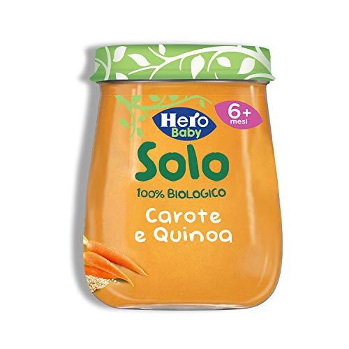 HERO SOLO Omogeneizzati misti Carota e Quinoa BIO, Cartone da 12 Vasetti x 120gr
