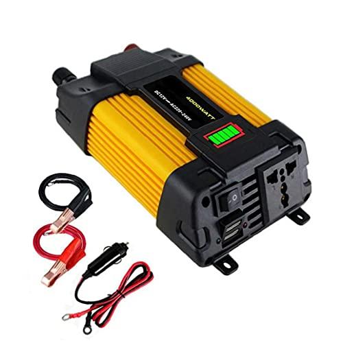 Adaptador de enchufe de enchufe de enchufe de enchufe de enchufe de enchufe de la onda sinusoidal puro 500W con un puerto de carga de 2.4A dual USB y 1 cargador de coche de CA 1pc