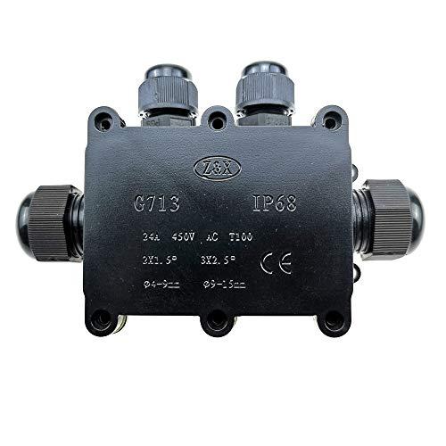 TOOLSTAR Caja de conexiones, 4-B Way IP68, resistente al agua, conectores de...