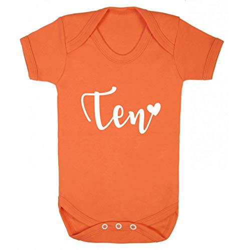 Flox Creative Gilet pour bébé Ten and Heart - Orange - S