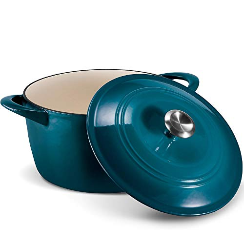 Tramontina Enameled Cast Iron 7-Qt. Covered Round Dutch Oven - Blue