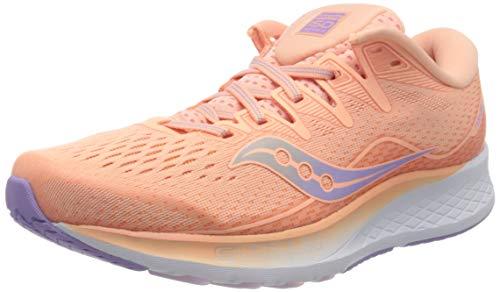 Saucony Women's Ride ISO 2 Running Shoe, Peach, 5 M US