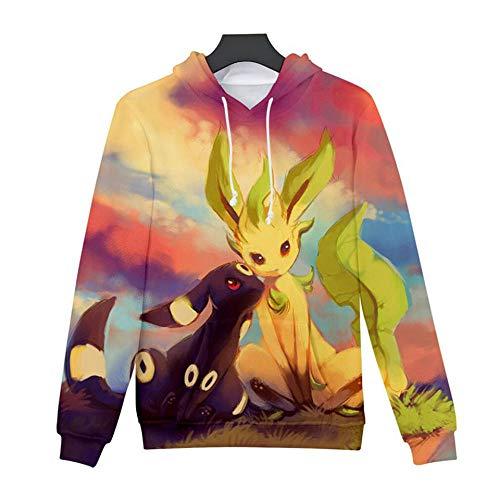 Kapuzenpullover Pikachu Hoodie 3D Digitaldruck Anime Pokemon T Shirt Herbst und Winter lässig und bequem Teenager Männer Frauen Paare tragen 1108_XL