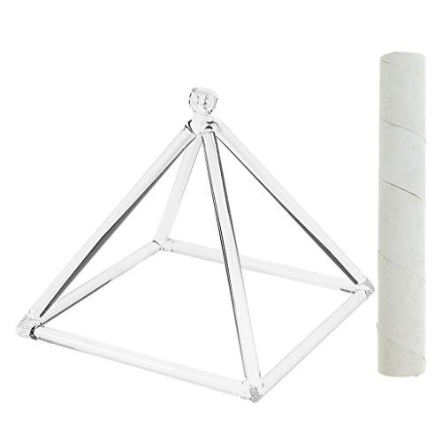 6 Almencla Kristallklangschale Klare Klangpyramide D Note Mit Freiem Wildledersturm