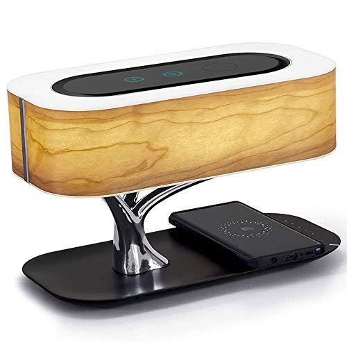 JYDQM Lámpara de Mesa LED Moderna for Dormitorio Dimmable Bluetooth Altavoz Cargador de teléfono inalámbrico Lámpara de Noche Lámpara de Cama Luz de Mesa Lámpara de árbol