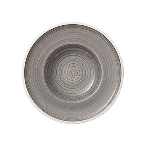 Villeroy & Boch Manufacture Plato hondo Porcelana Premium, Gris, 25 cm