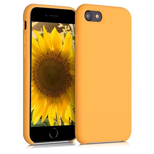 kwmobile Hülle kompatibel mit Apple iPhone 7/8 / SE (2020) - Handyhülle gummiert - Handy Case in Iced Mango