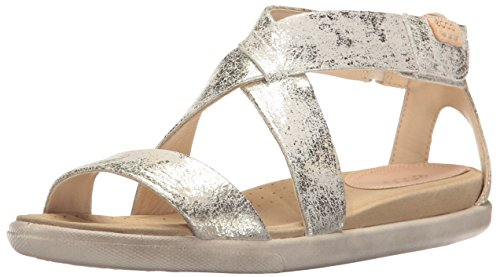 ECCO Women's Women's Damara Sp Gladiator Sandal, Gravel, 37 EU/6-6.5 M US
