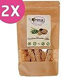 Primus Handgemachte Walnuss-Rosmarin-Kekse, 2x 80 g Doppelpack, herzhafte Kekse mit kröftig-würziger Note, glutenfrei und vegan