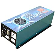 New ATS 24V 32000W Peak 8000W LF Split Phase Pure Sine Wave Power Inverter DC 24V to AC 110V&220V 60Hz, with 120A BC/UPS / LCD Display - Jeep Version