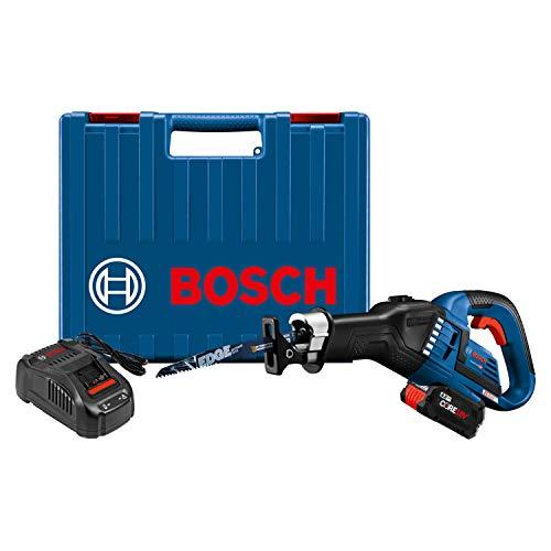 BOSCH GSA18V-125K14A 18V EC Brushless 1.25 In. Stroke Multi-Grip Reciprocating Saw Kit with (1) CORE18V 8.0 Ah Performance Battery