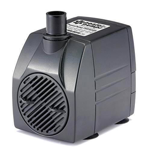 PonicsPump Submersible Pump with for Hydroponics, Aquaponics, Fountains, Ponds, Statuary, Aquariums & more. Comes with 1 year limited warranty. (291 GPH : 5' Cord)