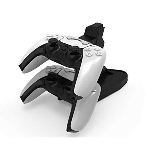 Cargador Mando PS5, YOUKUKE Estación de Carga Rápido USB para DualSense 5 Controller, Dual Charger Charging Base Cargador para Mando de PS5