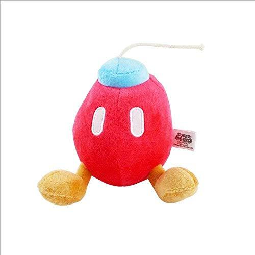 NC56 20 cm Peluche Super Mario Mario Peluche miniere Bomberman Bambola Piccolo Regalo Giorno Regali Genitore-Figlio Puntelli Gioco interattivo Rosso