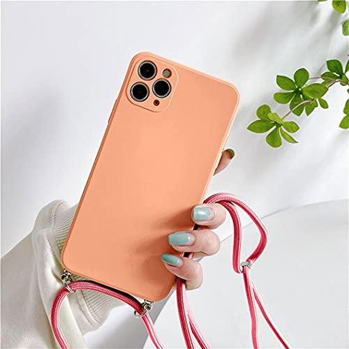 Jacyren Cadena para teléfono móvil para iPhone SE 2020, con cordón para el cuello, funda para iPhone 7 y 8, funda de silicona con banda para colgar, para iPhone SE 2020/iPhone 7 y 8