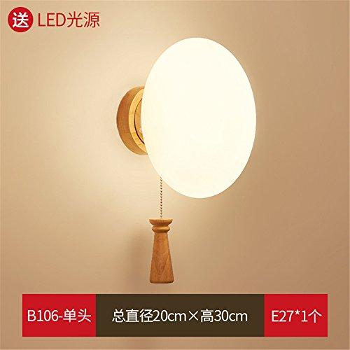DengWu Moderne en minimalistische wandlamp van hout LED wandlampen slaapkamer werkkamer creatieve trap lampen met snoerschakelaar
