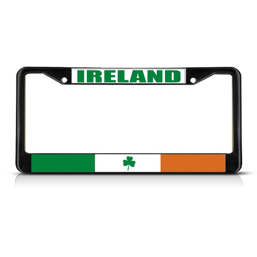 Fastasticdeals Ireland Flag Irish Country License Plate Frame Tag Holder Cover