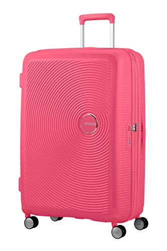 American Tourister Soundbox Spinner Large Expandable Bagaglio A Mano, Rosa (Hot Pink),Spinner L (77 cm - 110 L)