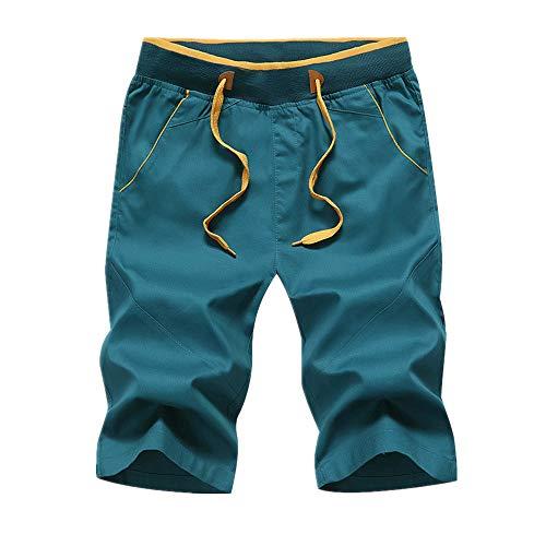 Pantalones cortos de algodón puro transpirable para hombre Verde verde 54