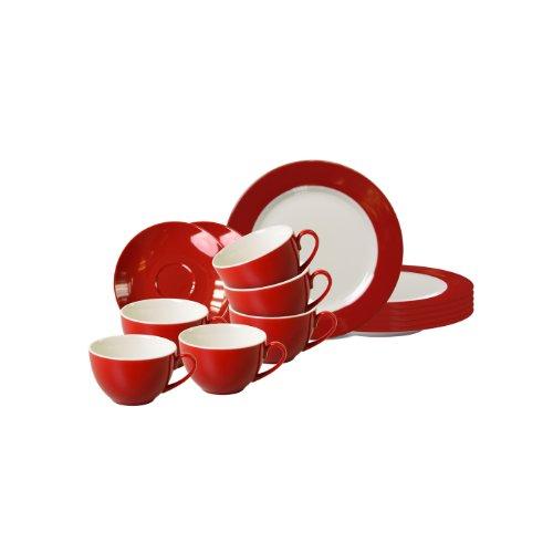 Flirt by Ritzenhoff & Breker Doppio Rot Kaffeeservice 18tlg.