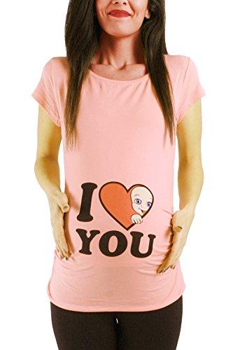 I Love You - Lustige witzige süße Umstandsmode/Umstandsshirt mit Mot