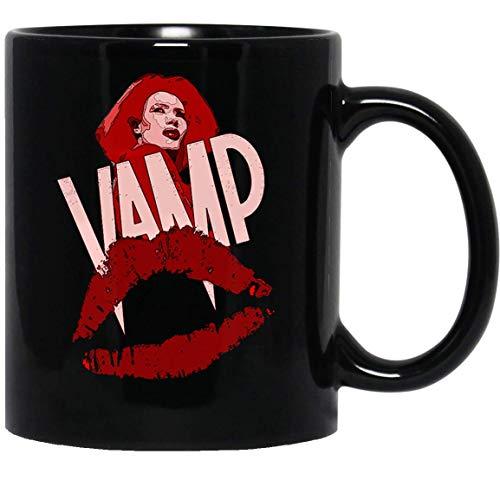 N\A Vamp 80s Grace Jones Vampire Dracula Horror Movie Girly Film Cinema Taza de café Divertida para Mujeres y Hombres Tazas de té Té