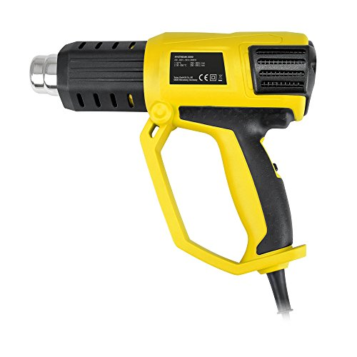 TROTEC HyStream 2000 Heißluftpistole (2.000 W) bis max. 650 °C inkl. vielseitig einsetzbarem Vorsatzdüsen-Set
