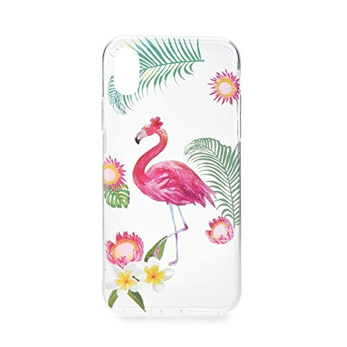 Onbekend Back Case Flaming Falamingo voor Huawei Mate 10 Lite/Huawei Nova 2i/Huawei Honor 9i siliconen hoes hoes etui flip back case cover silicone mobiele telefoon tas beschermhoes forcell zomer
